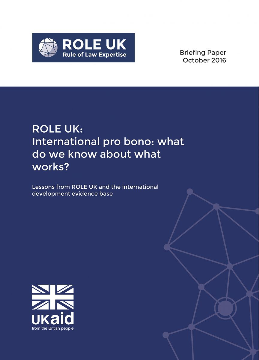 International pro bono: What do we know about what works?